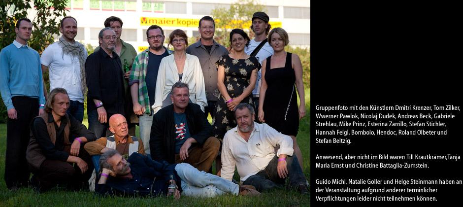 Gruppenfoto mit den Künstlern