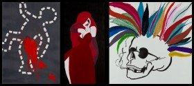Kunstwerke der im Irak geborenen Künstlerin Razan Bahadin