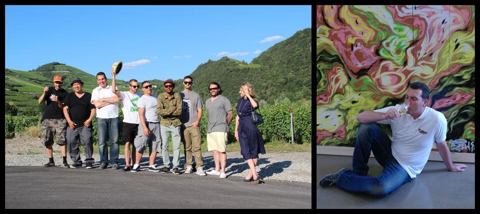 Künstler gestalten Weinkisten für eine Kunstedition: myFINBEC 2012